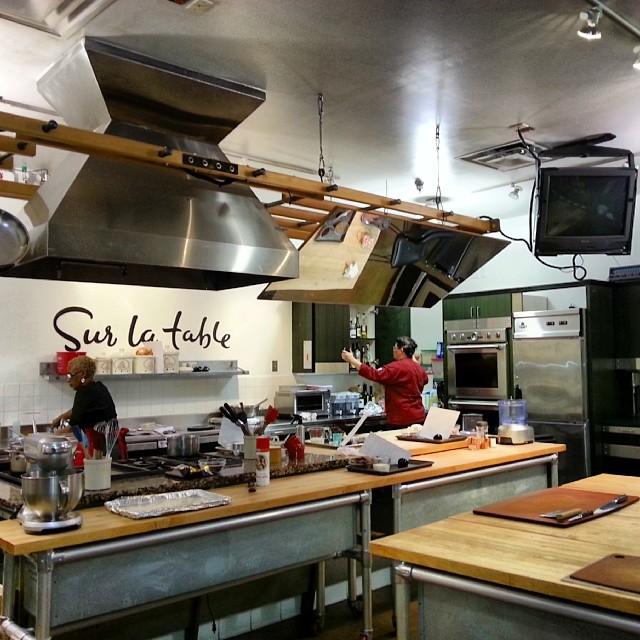 Teaching kitchen at Sur La Table